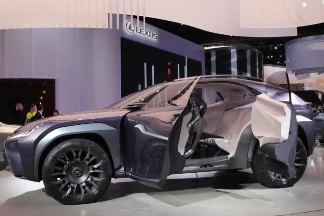 Lexus UX Concept Detroit Auto Show Doors Open