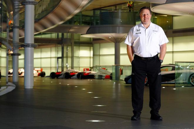 McLaren Technology Group Executive Director Zak Brown Standing