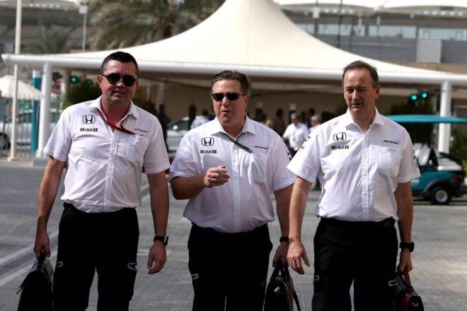 McLaren Technology Group Executive Director Zak Brown With Colleagues