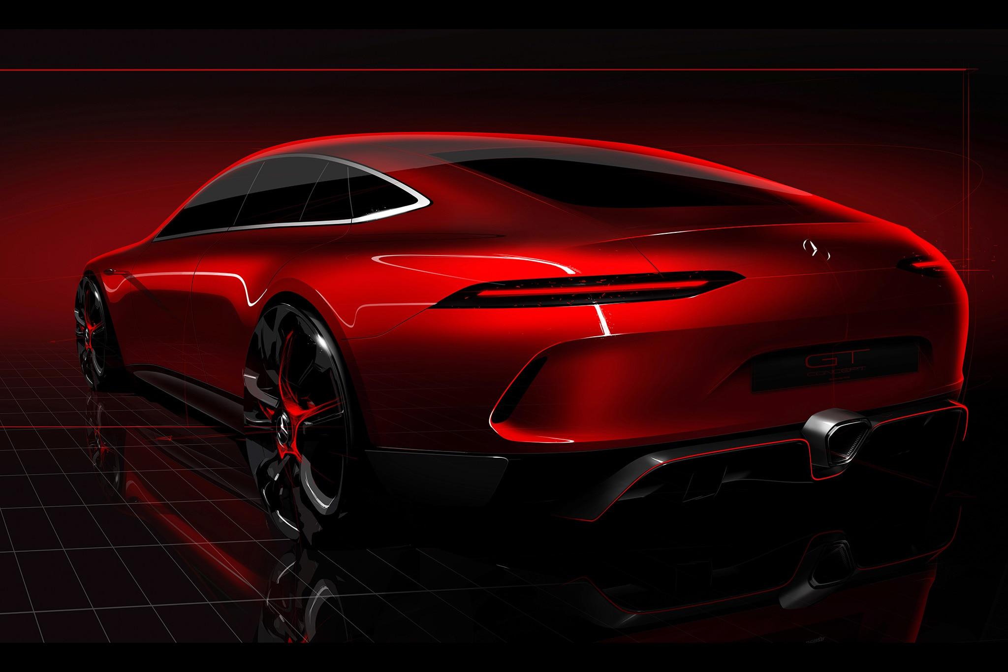 Mercedes Benz AMG GT Concept 2017 Geneva Teaser