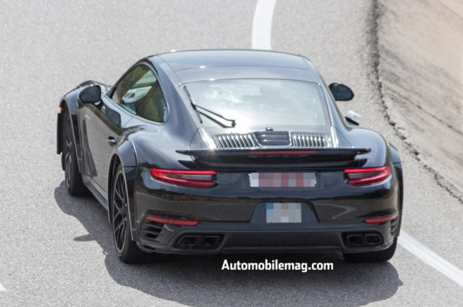 Porsche 911 992 Turbo Spyshot Rear 2