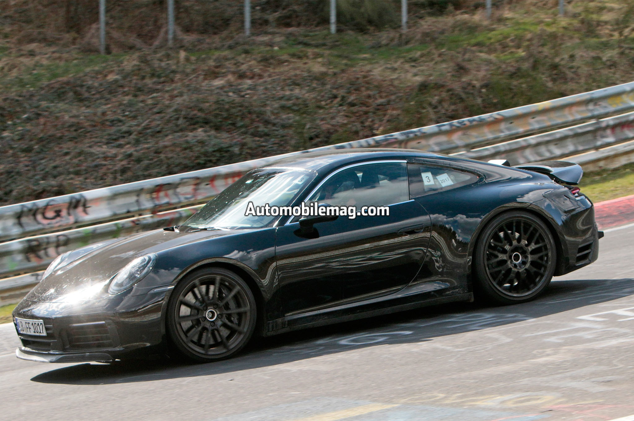 2019 porsche 911 spied at the nurburgring automobile magazine. Black Bedroom Furniture Sets. Home Design Ideas