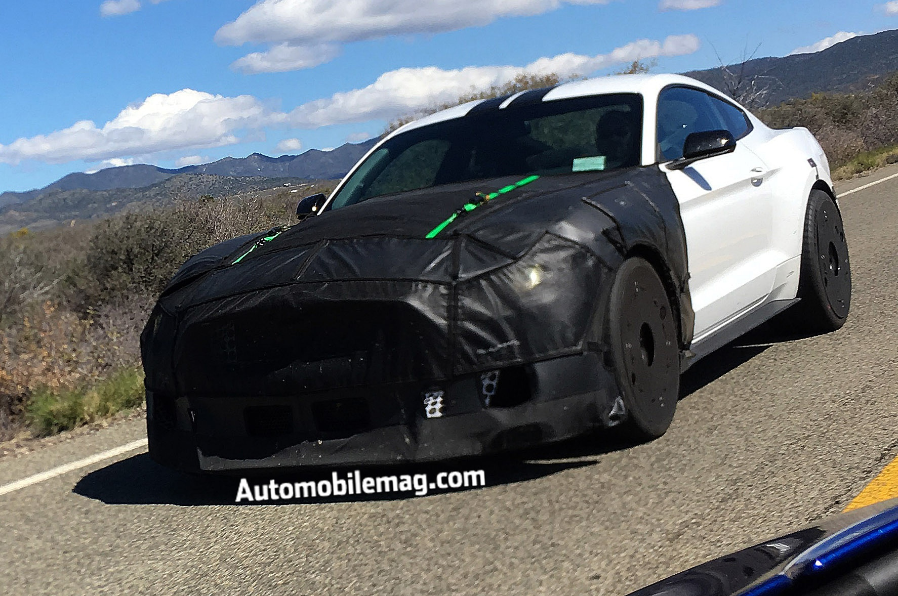 Ford Shelby Mustang Spied Front View 1