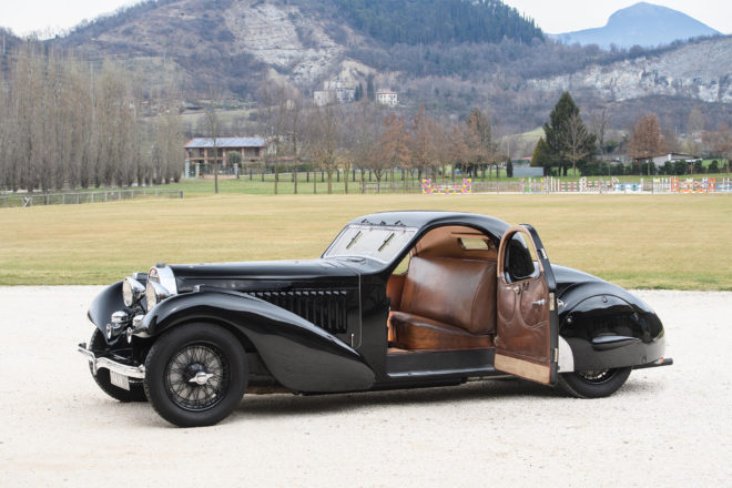 1935 Bugatti Type 57 Atalante Prototype front three quarter