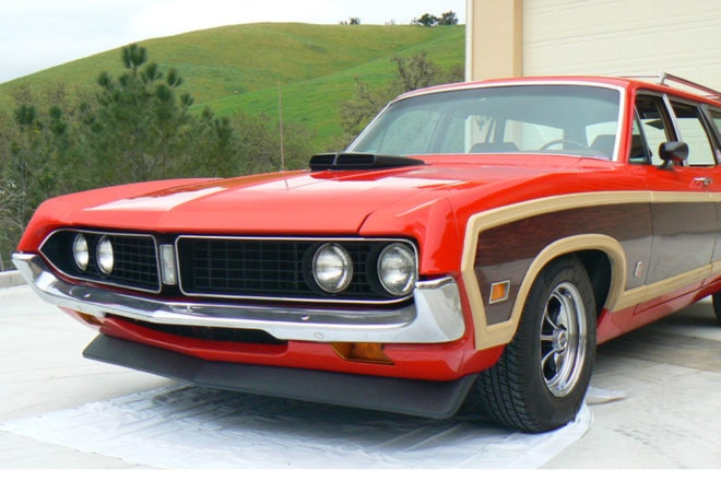 1971 Ford Torino Squire Wagon Front Three Quarters 660x440