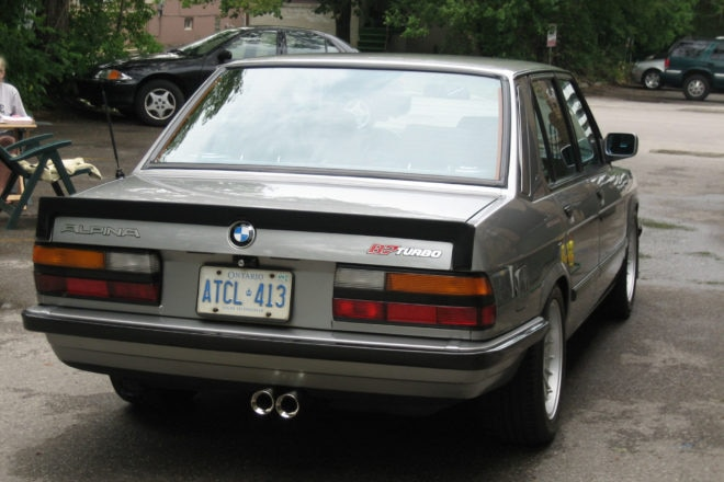 1986 BMW Alpina B7 Turbo Just Listed Rear