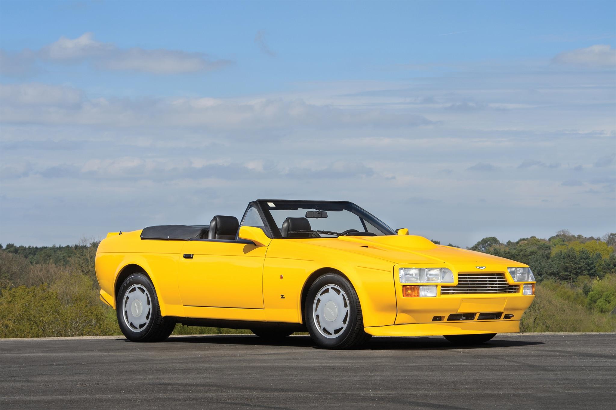 1989 Aston Martin V8 Vantage Volante Zagato Front Three Quarter