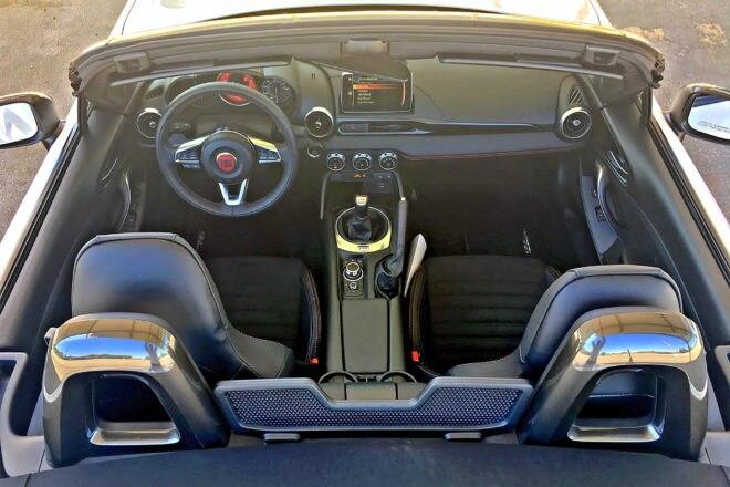 2017 Fiat 124 Spider Abarth interior overview
