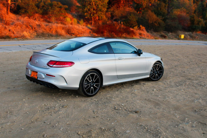 2017 Mercedes AMG C43 Coupe rear three quarter