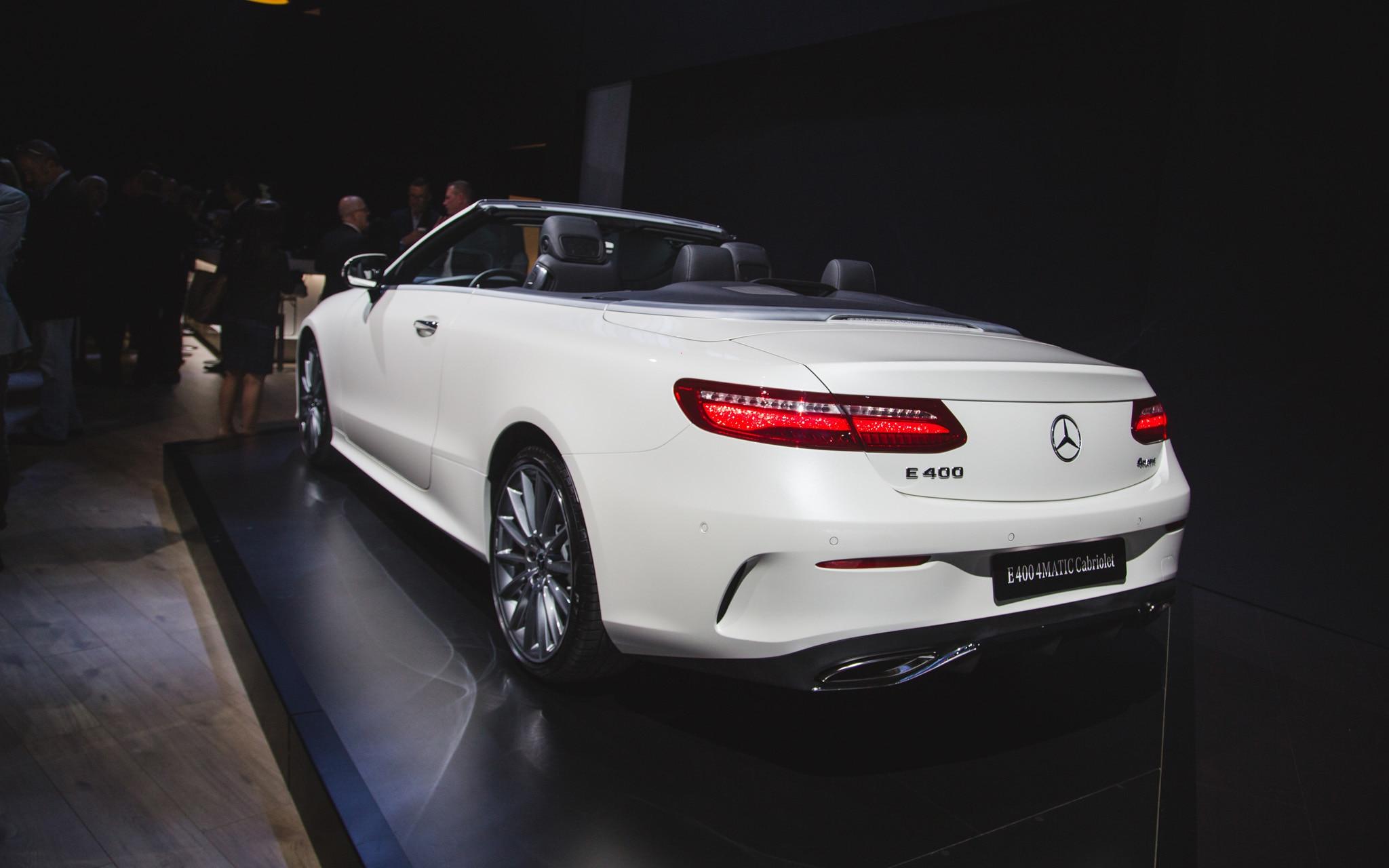 2018 mercedes benz e class cabriolet makes its u s debut for Mercedes benz e class e350 cabriolet