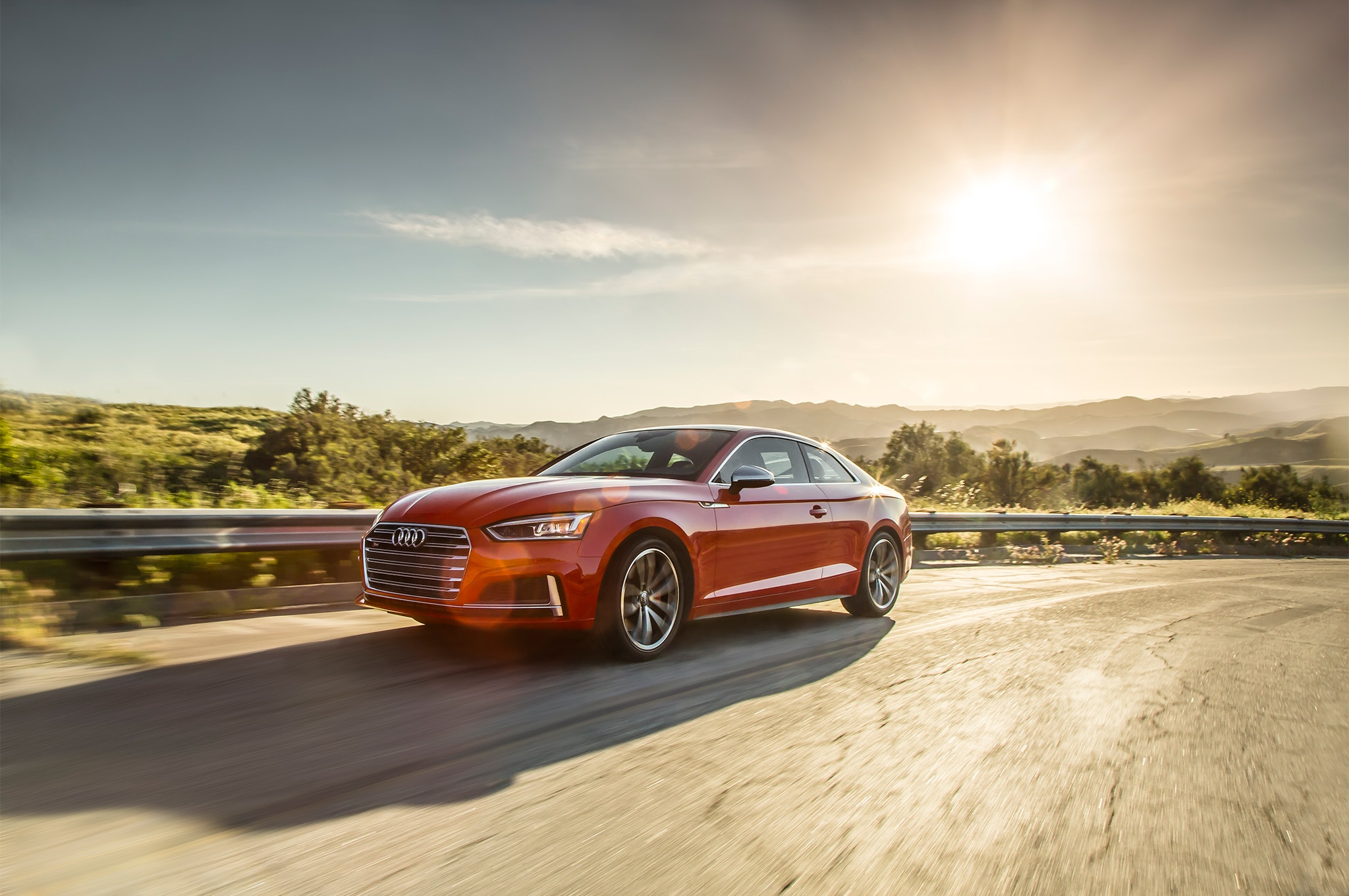 2018 Audi S5 Front Three Quarter In Motion 01
