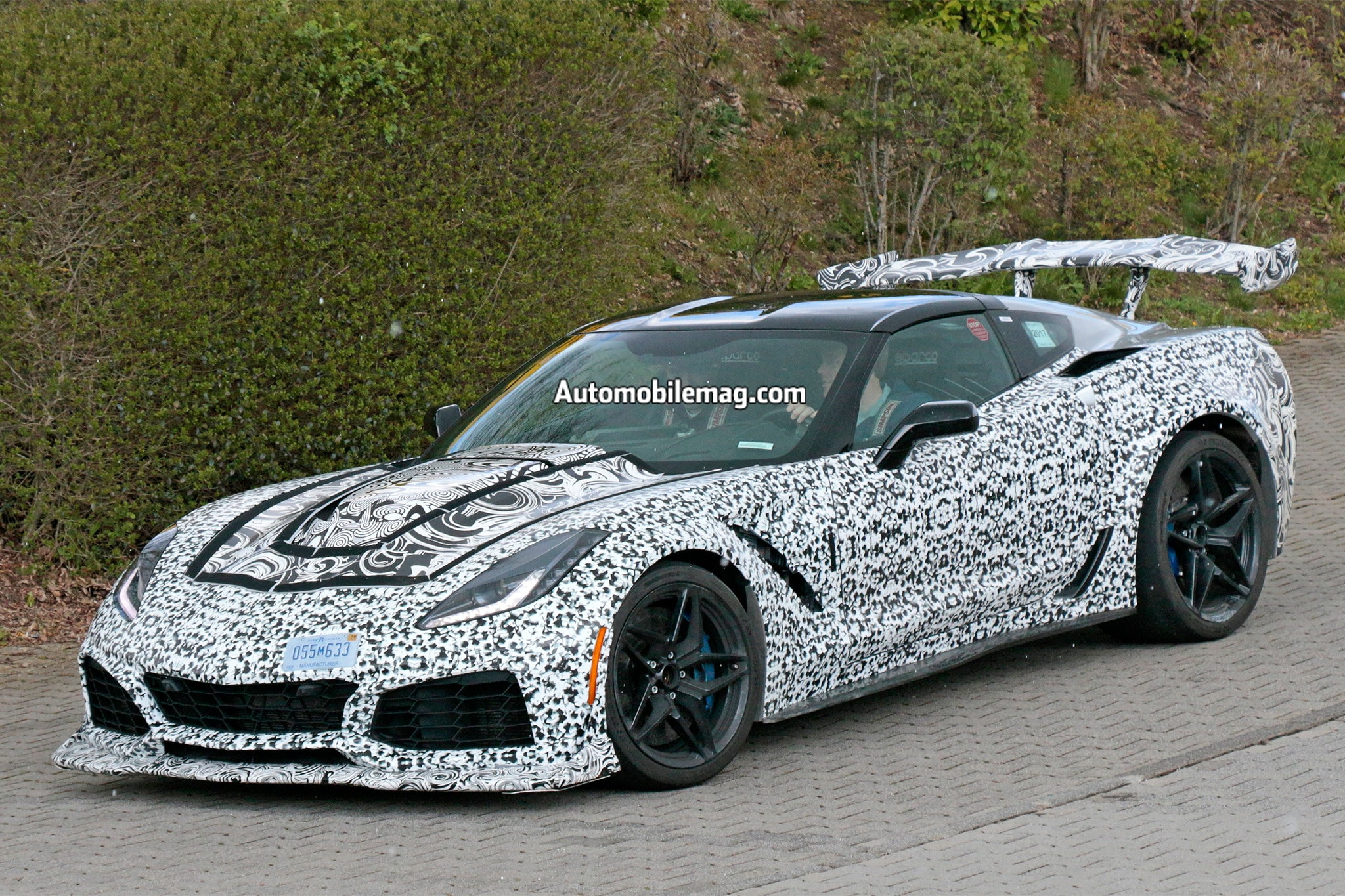 2018 chevrolet corvette zr1 spied testing at the nurburgring automobile magazine. Black Bedroom Furniture Sets. Home Design Ideas