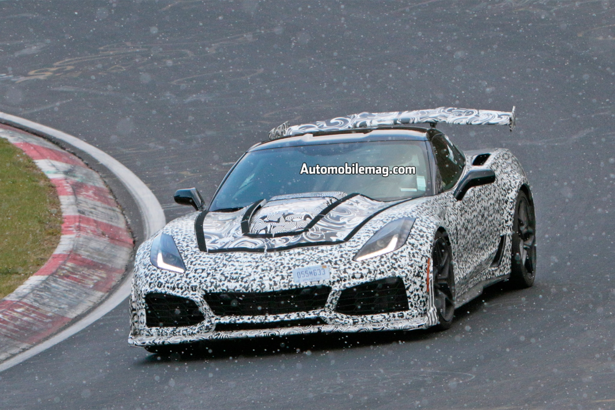 2018 Chevrolet Corvette ZR1 Prototype Front Three Quarter In Motion 04