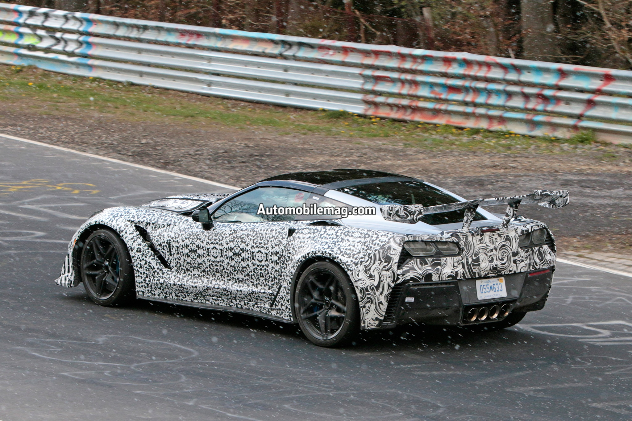 2018 chevrolet corvette zr1 prototype rear three quarter in motion 04. Cars Review. Best American Auto & Cars Review