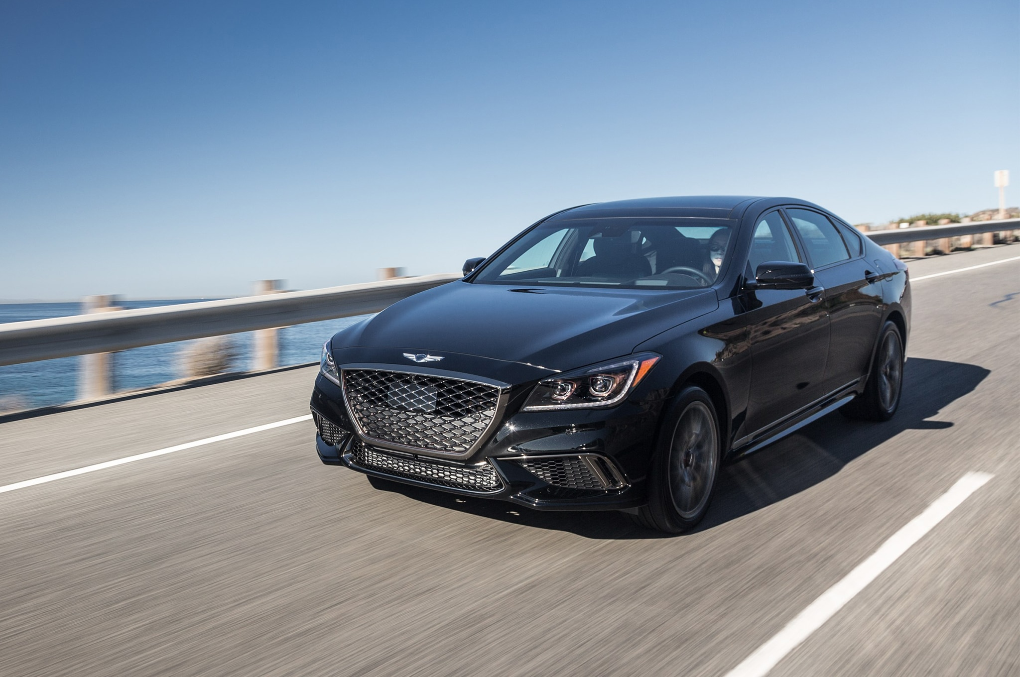 2018 genesis g80 starts at 42 725 3 3t sport priced from 56 225 automobile magazine. Black Bedroom Furniture Sets. Home Design Ideas