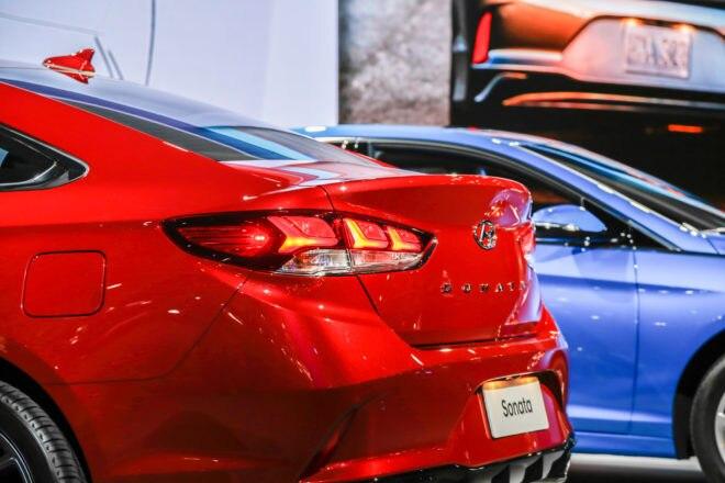 2018 Hyundai Sonata rear end