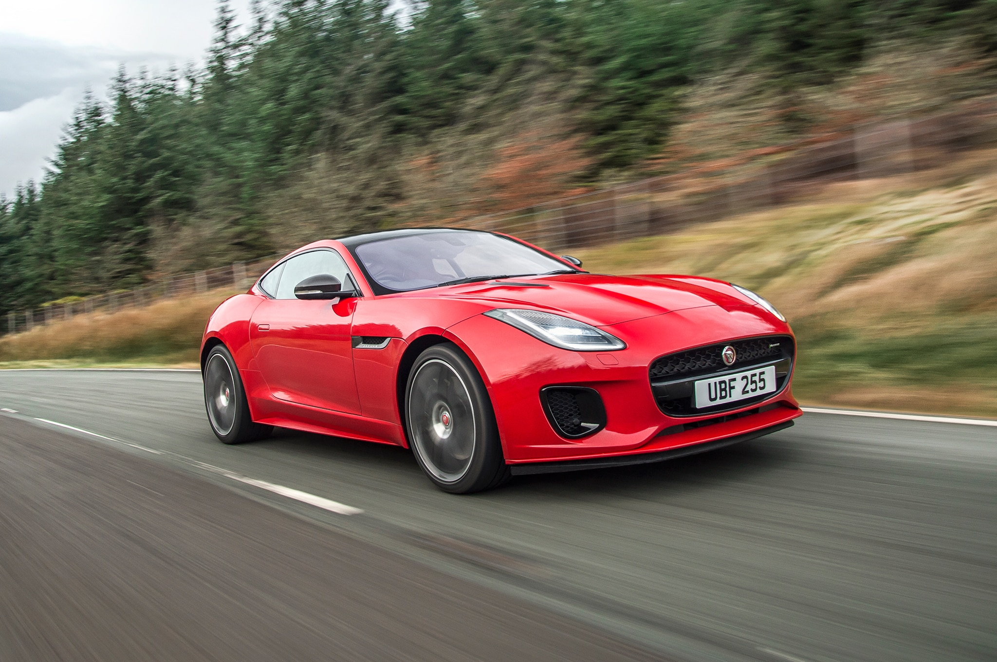 2018 Jaguar F Type Four Cylinder Front Three Quarter In Motion 04 8