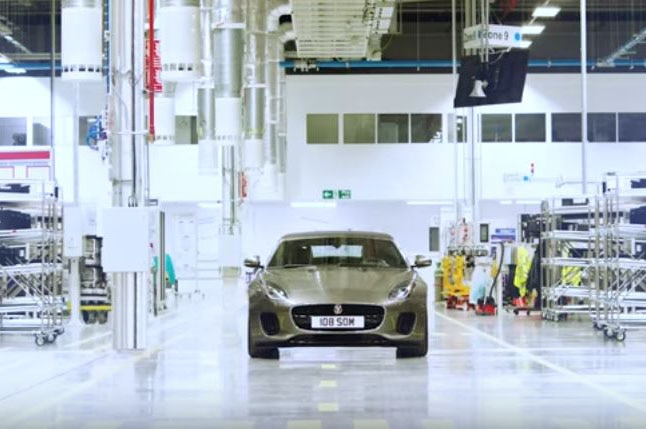 2018 Jaguar F Type In Engine Plant