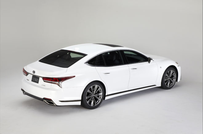 2018 Lexus LS 500 F Sport rear three quarter