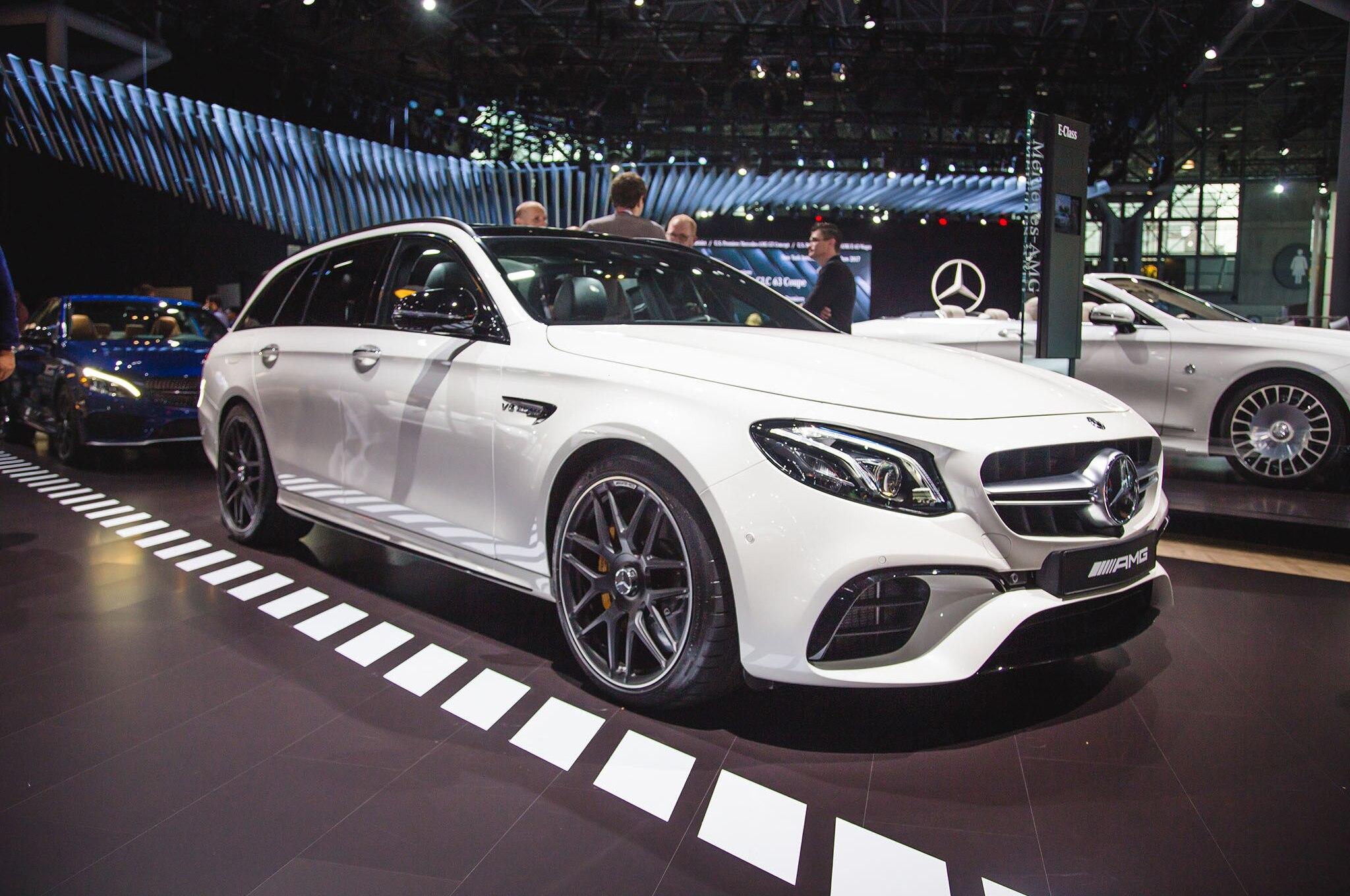 2018 Mercedes AMG E63 S Wagon Front Three Quarter 03