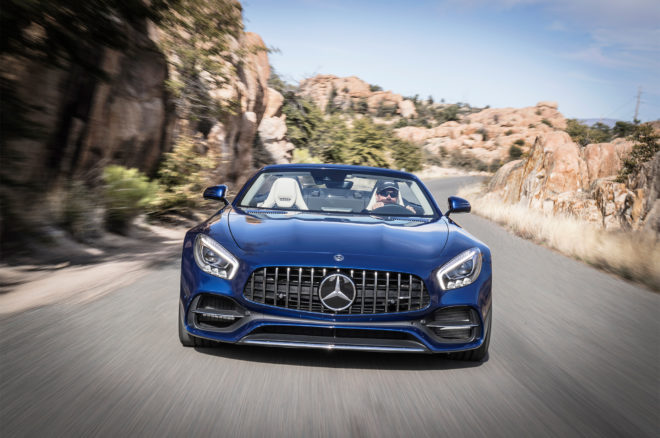 2018 Mercedes AMG GT Roadster Front End In Motion 660x438