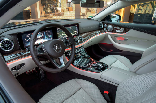 2018 Mercedes Benz E400 4MATIC Coupe cabin 01