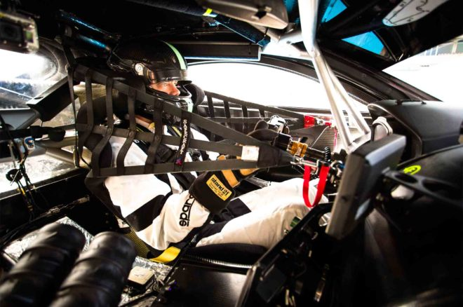 Aston Martin Racing V8 Vantage GTE Race Car cockpit
