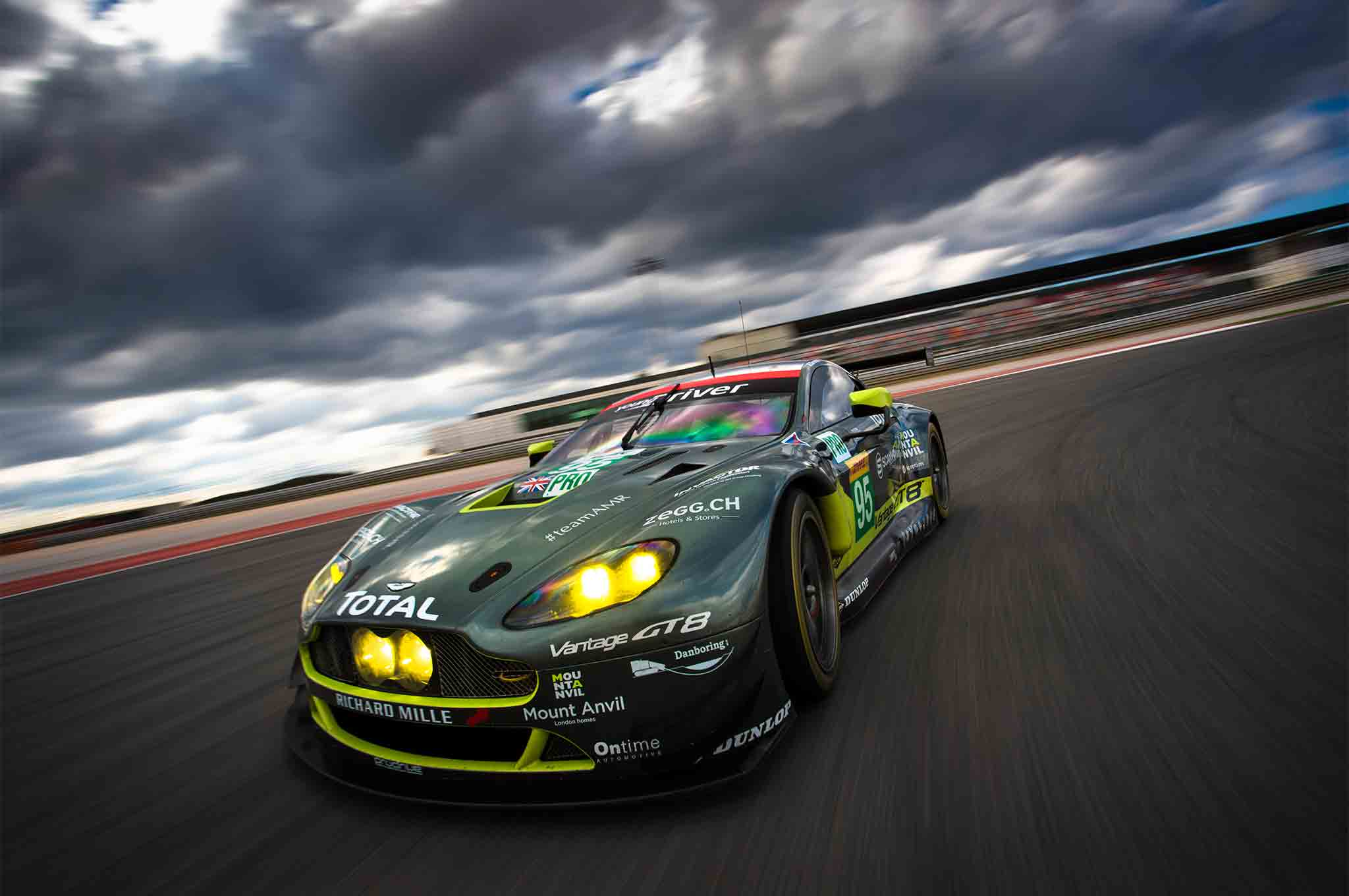 first laps aston martin racing v8 vantage gte automobile magazine