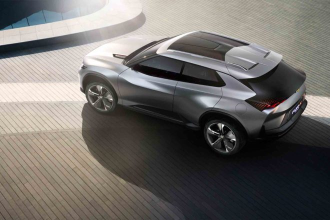 Chevrolet FNR X All Purpose Sports Concept Vehicle top view