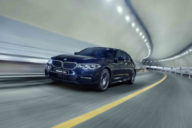 Chinese Market BMW 5 Series Long Wheelbase Front Three Quarter In Motion 03 1 660x440