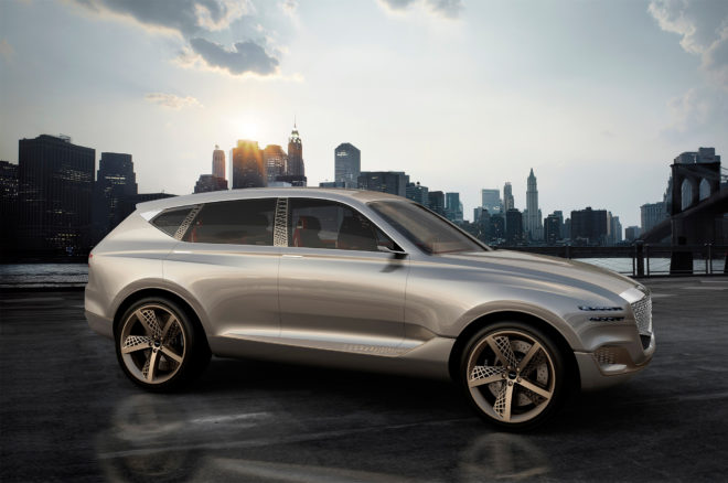 Genesis GV80 Fuel Cell Concept SUV Front Three Quarters 660x438