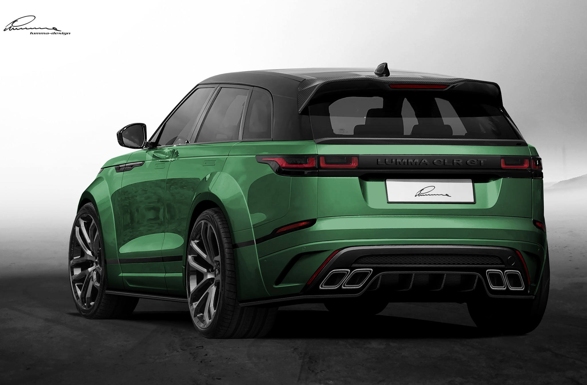 2018 range rover velar already gets a wide body kit by lumma design automobile magazine. Black Bedroom Furniture Sets. Home Design Ideas