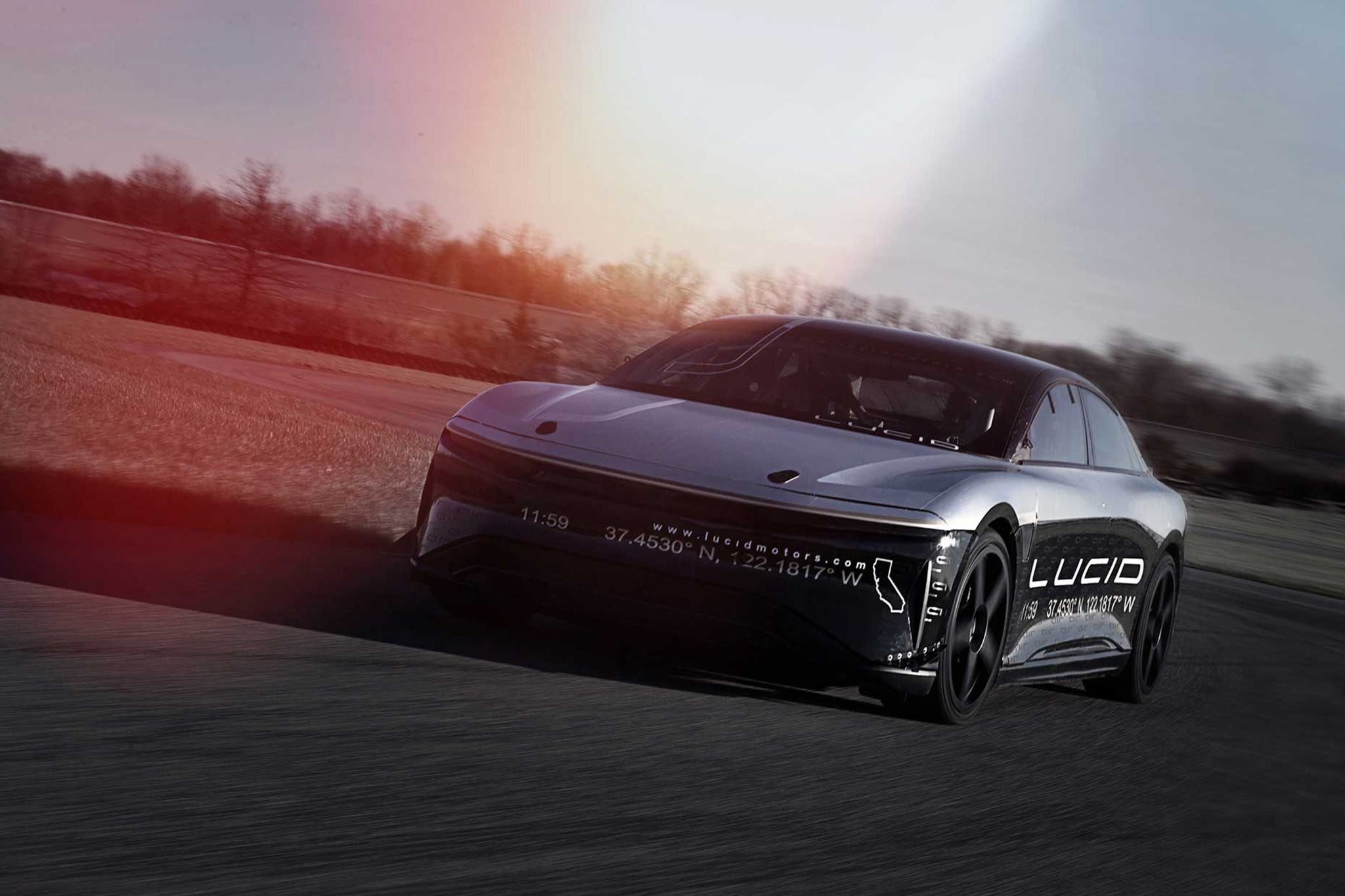 Lucid Alpha Speed Car In Motion