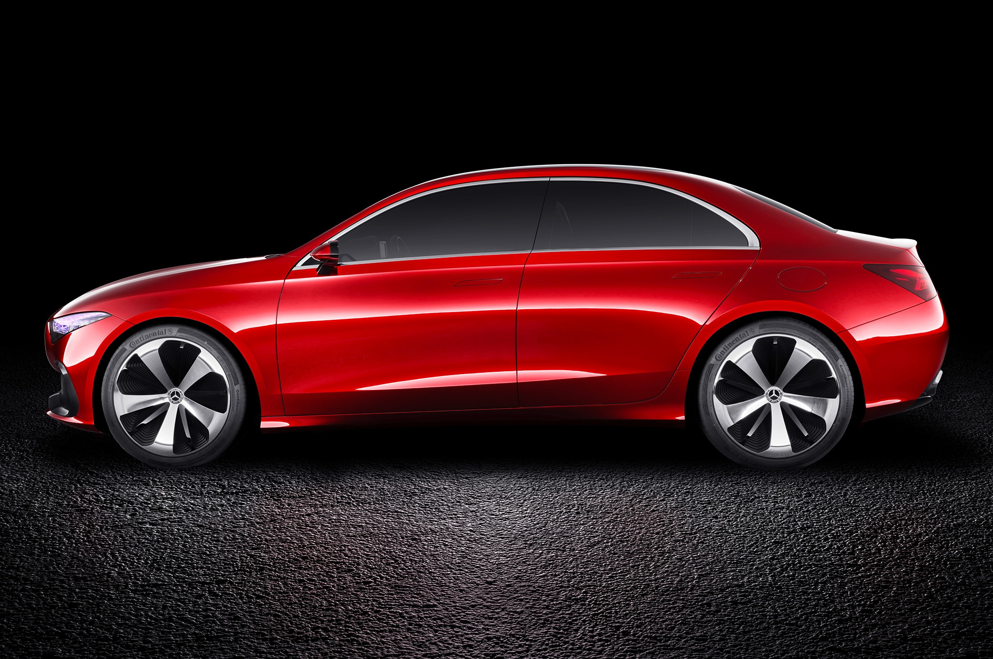 Mercedes Benz Concept A Sedan side view