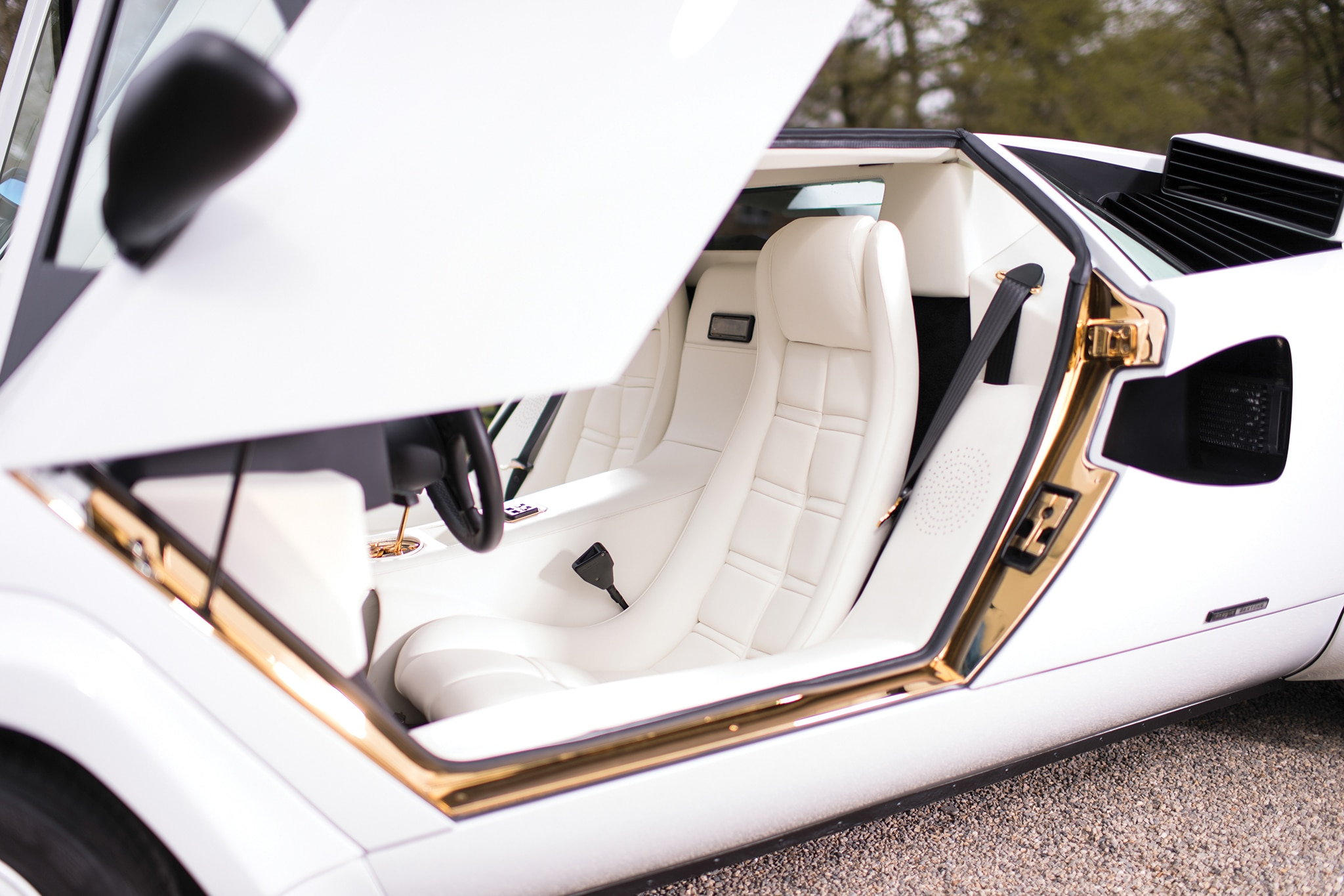 Just Listed A Gold Plated 1987 Lamborghini Countach 5000