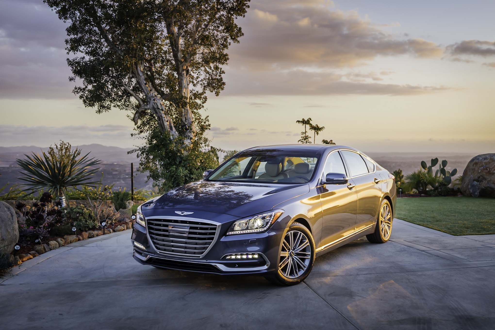 2018 Genesis G80 3 8 Front Three Quarters