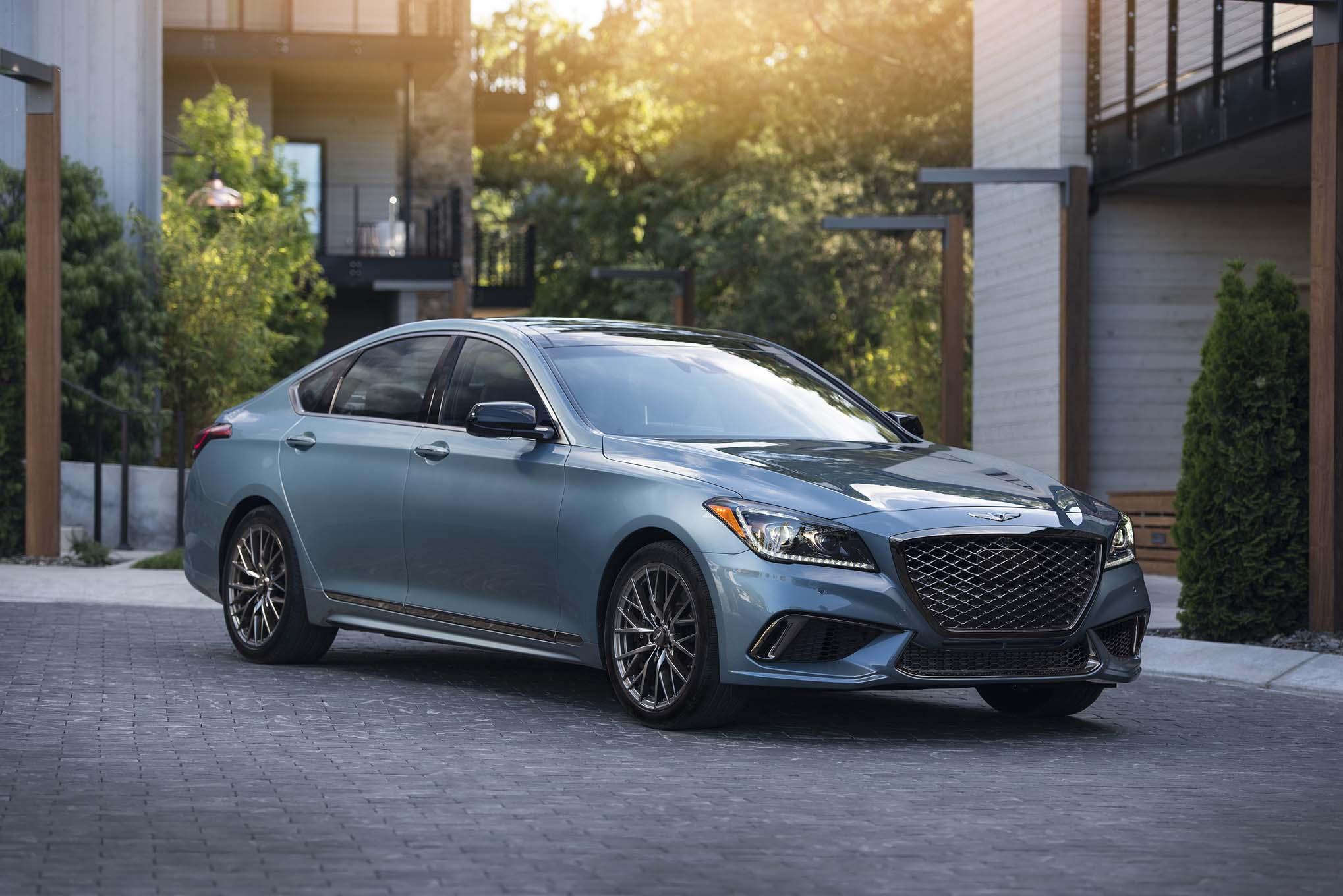 2018 genesis g80 sport first drive review automobile magazine. Black Bedroom Furniture Sets. Home Design Ideas