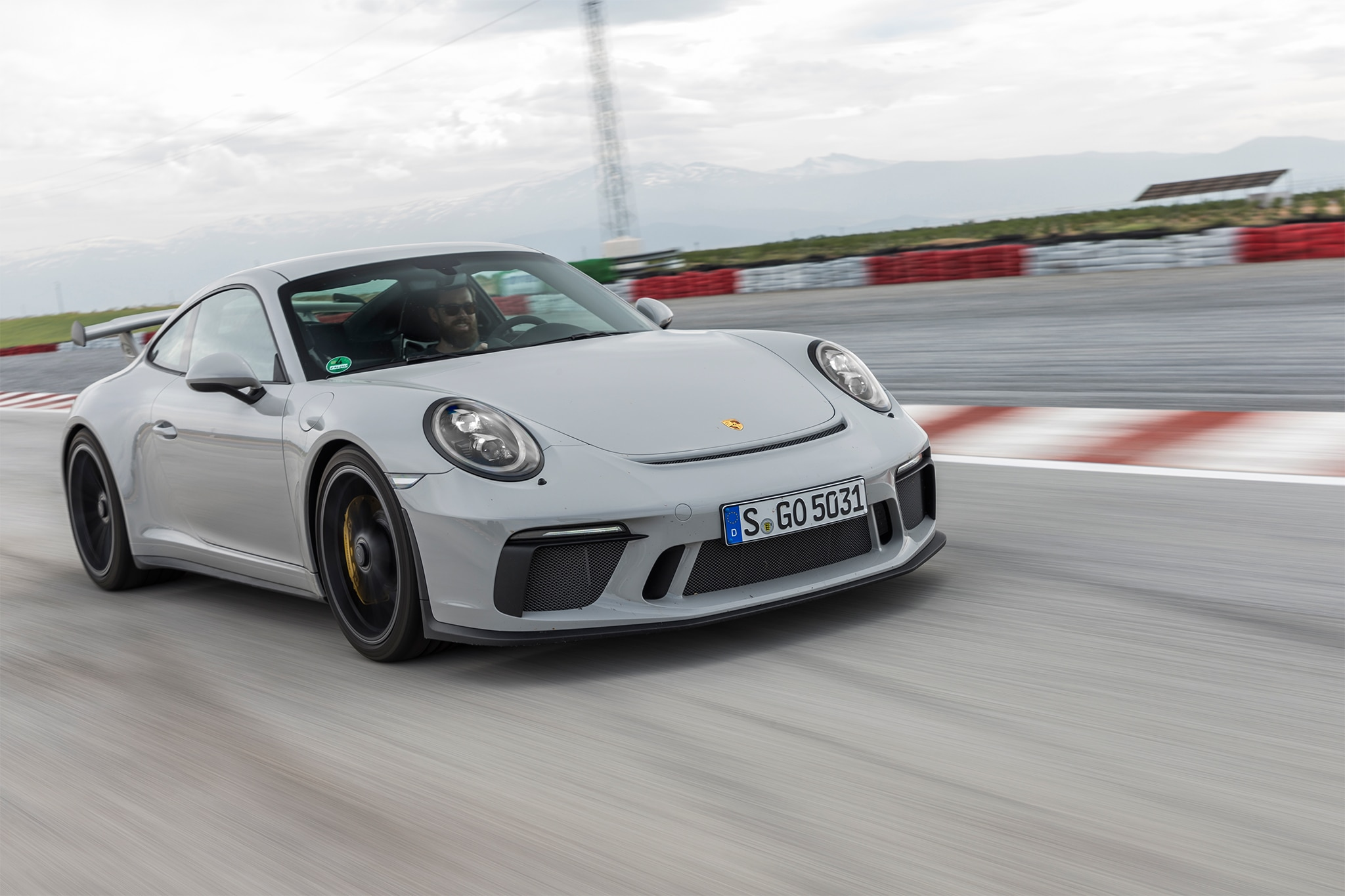 2018 Porsche 911 GT3 Front Three Quarter In Motion 08