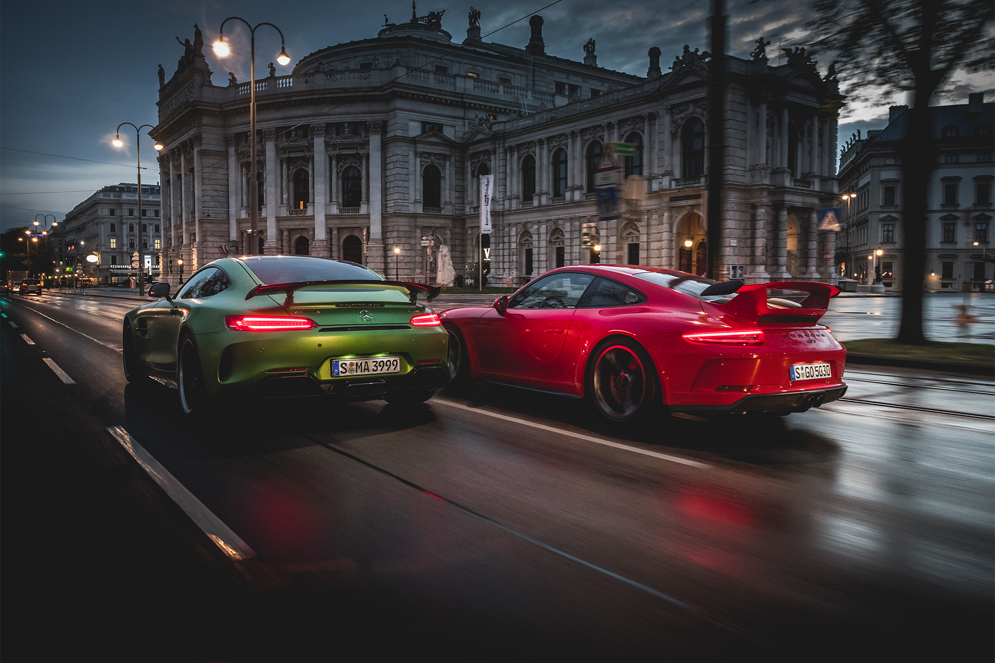 Porsche Vs Mercedes Amg Gt R Love At First