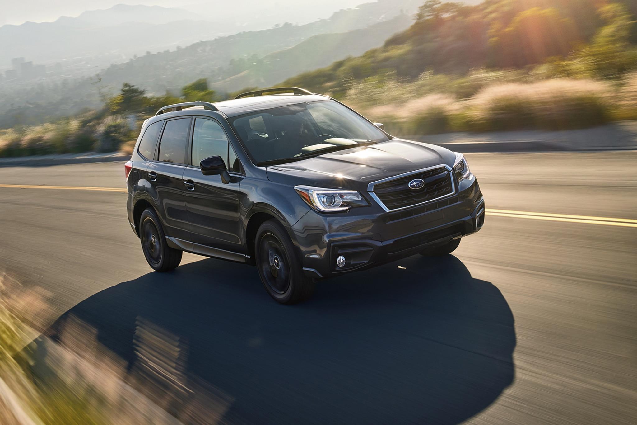 2018 Subaru Forester Black Edition Front Three Quarters