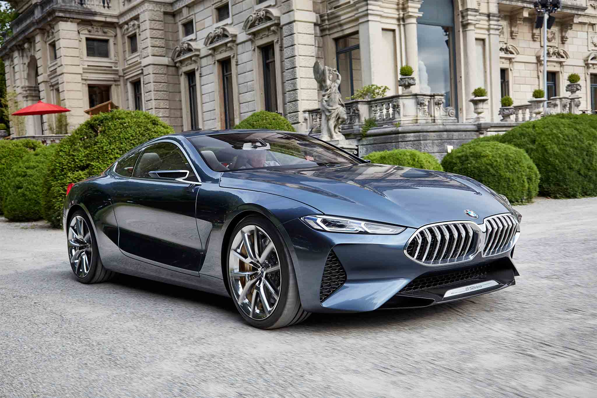 BMW 8 Series Concept Front Three Quarter In Motion 04