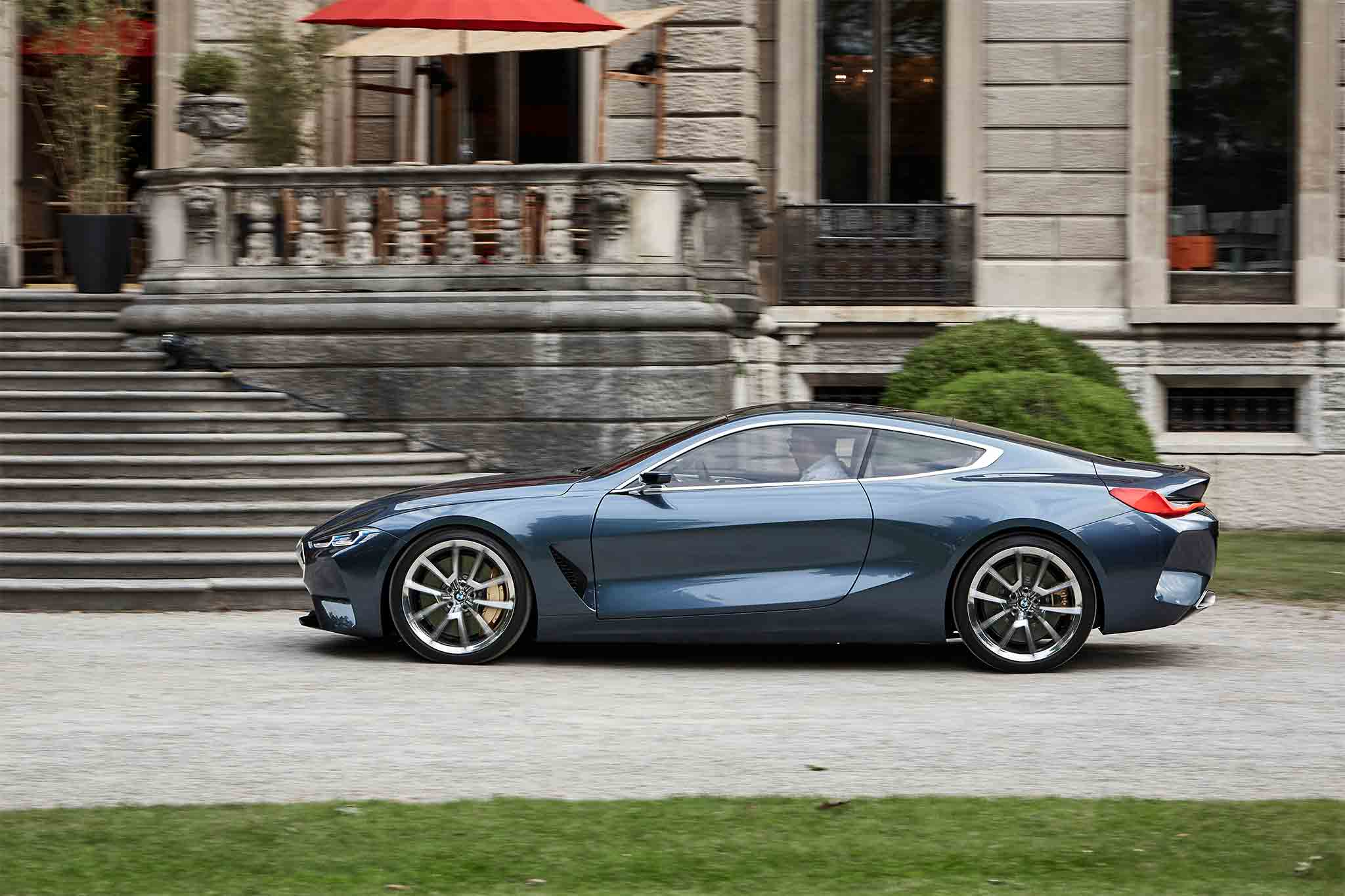 2018 bmw 850i. fine bmw u201cthe front end is defined by an aggressive sharknose grille which makes a  real statement it may look vulnerable but for optimum impact protection the  for 2018 bmw 850i