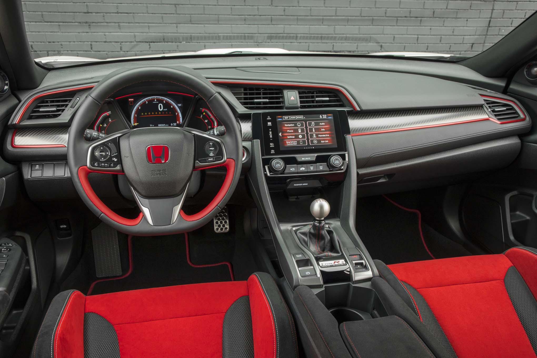 2017 honda civic type r first drive automobile magazine - 2017 honda civic type r interior ...