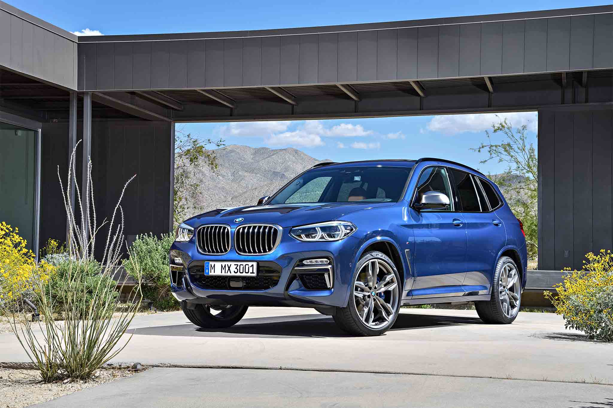2018 bmw x3 revealed with performance oriented m40i trim automobile magazine. Black Bedroom Furniture Sets. Home Design Ideas