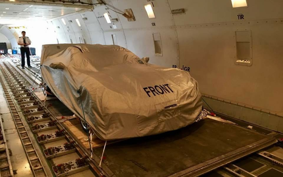 2018 Chevrolet Corvette ZR1 In Plane Under Cover Front