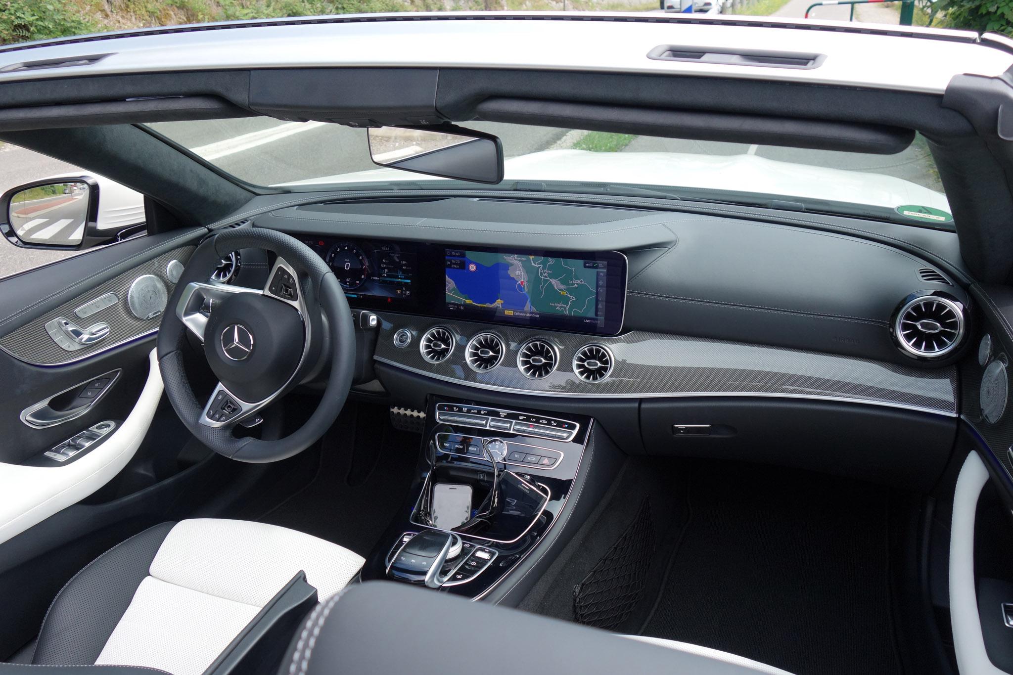 First drive 2018 mercedes benz e400 4matic cabriolet for Mercedes benz e350 interior