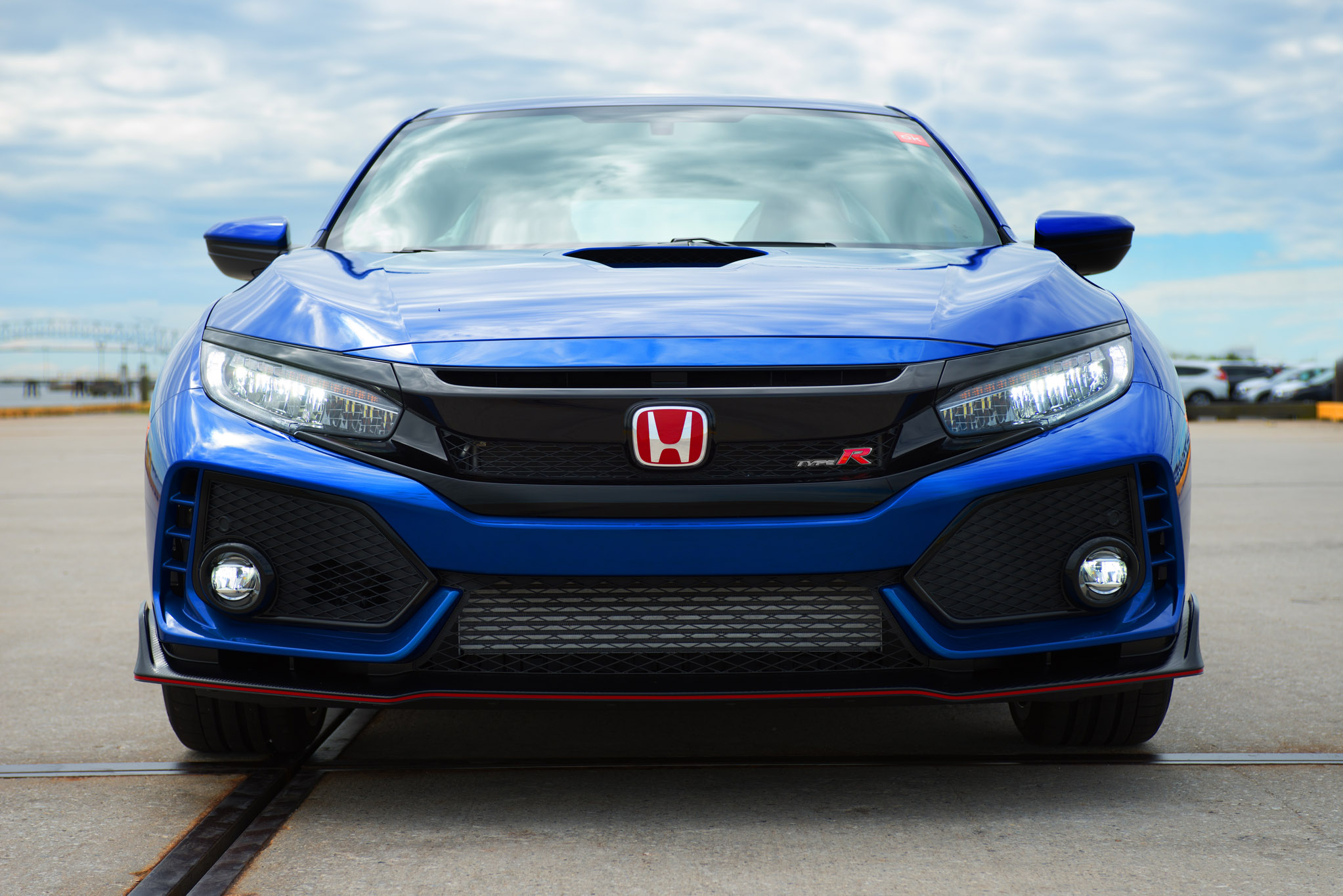 first u s bound 2017 honda civic type r auctioned for charity motor trend. Black Bedroom Furniture Sets. Home Design Ideas