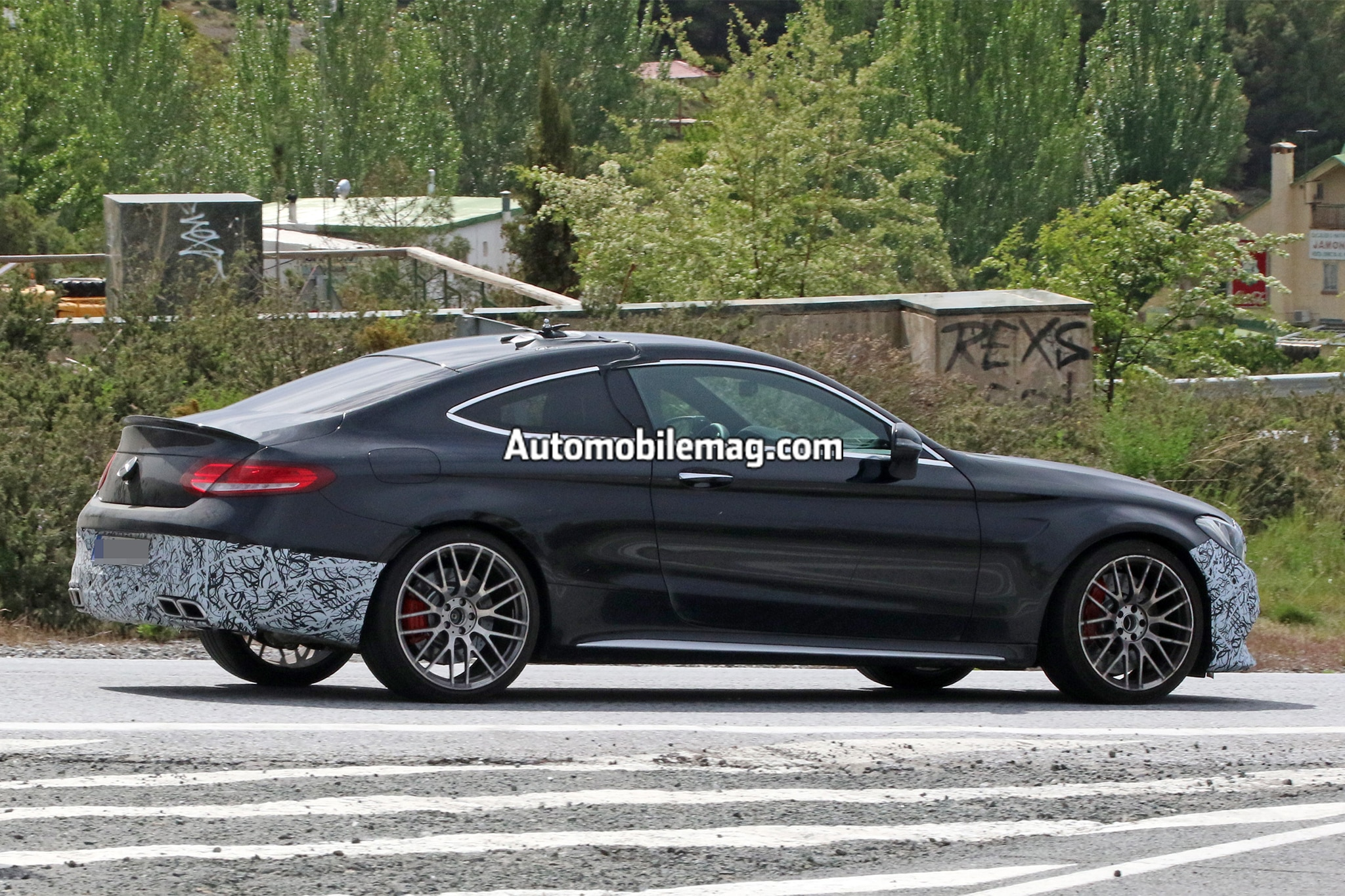 mercedes amg c63 s coupe set to get new nose and rear automobile magazine. Black Bedroom Furniture Sets. Home Design Ideas