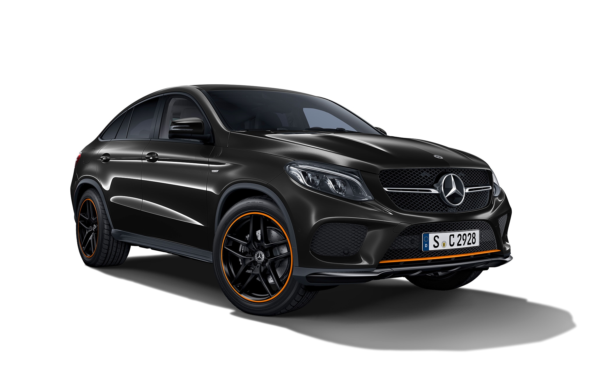 Mercedes AMG GLE 43 4MATIC Coupe OrangeArt Edition Front Three Quarter