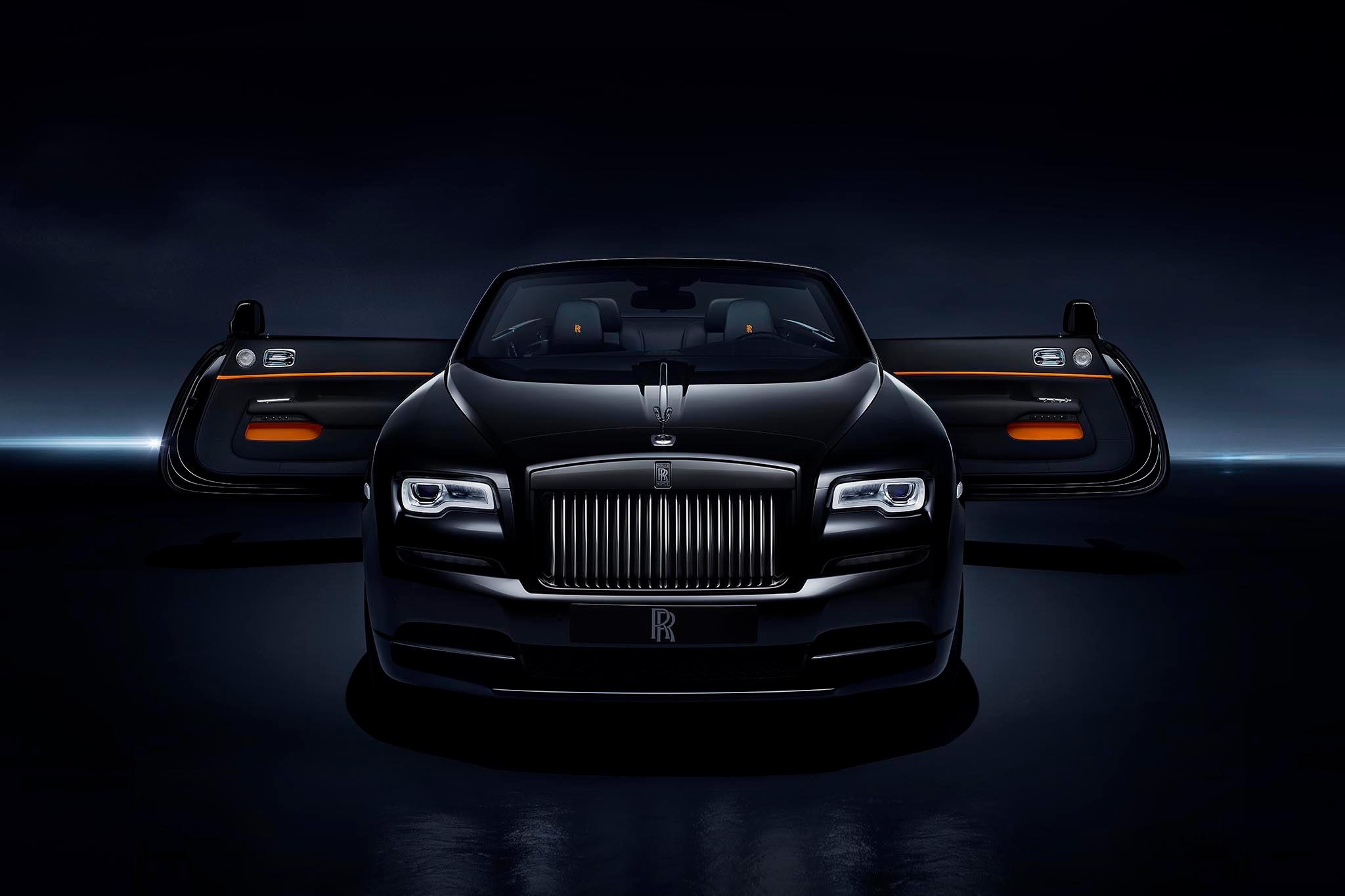 Rolls Royce Dawn Black Badge Front Doors Open